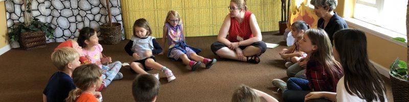 Children's lesson in circle