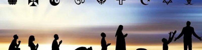 People in interfaith worship