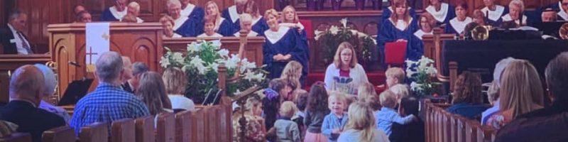 Children's sermon at Bay Shore Community Congregational Church (UCC) in Long Beach, California